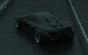 Picture McLaren, Auto, Black, Machine, Car, Render, Supercar, McLaren 675LT, Transport & Vehicles, Brad Builds, by ...