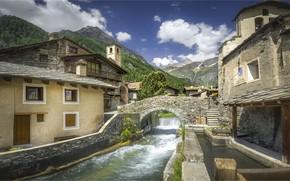 Wallpaper mountains, Italy, Piedmont