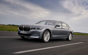 Picture grey, BMW, sedan, four-door, G12, G11, 2020, 7, 7-series, 2019, full-size