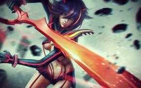 Picture Girl, Sword, Art, Character, Eddy Shinjuku, Kill La Kill, by Eddy Shinjuku, KILLA MOVES RYUKO, …