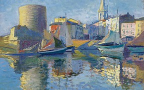 Picture picture, the urban landscape, Paul Madeline, Paul Madeline, La Rochelle. A view of the Port