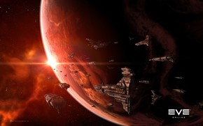 Picture space, nebula, planet, space, spaceship, eve online, space ship, coooper