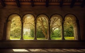Wallpaper Windows, garden, arch
