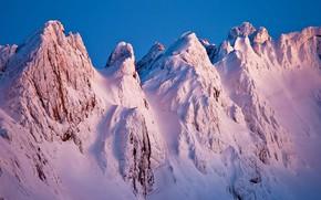Picture snow, mountains, Spain, Asturias, The Picos de Europa