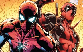 Picture Fire, Heroes, Costume, Mask, Comic, Heroes, Swords, Fire, Superheroes, Deadpool, Marvel, Deadpool, Marvel Comics, Comics, …
