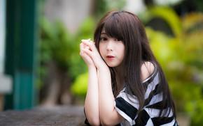 Picture girl, Asian, cutie, peer