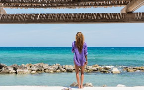 Picture sea, summer, Girl, Italy
