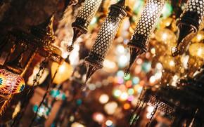Picture light, glare, lamp, Turkey
