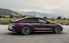 Picture coupe, BMW, in motion, 2019, M8, the four-door, M8 Gran Coupe, M8 Competition Gran Coupe, …