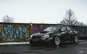 Picture snow, subaru, sti, stance