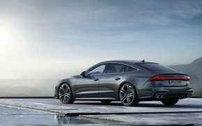 Picture Audi, back, side view, Audi A7, 2019, S7 Sportback