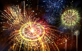 Picture lights, glare, holiday, texture, the fireworks