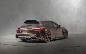 Picture Porsche, Panamera, Turismo, rear view, 2018, Sport, Mansory