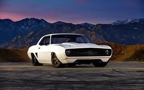 Picture Chevrolet, Camaro, White, Chevrolet Camaro, Muscle car, Custom