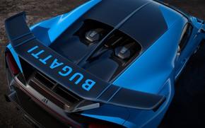 Picture Bugatti, spoiler, hypercar, Chiron, 2020, Pur Sport