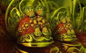 Wallpaper background, color, form, Green Dream