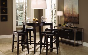 Picture table, chairs, interior, picture, candles, dining room