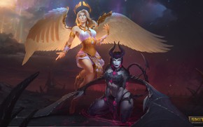 Picture wings, angel, the demon, smite, Hel