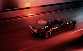 Picture Auto, The game, Machine, Speed, Dodge, Challenger, Game Art, Mikhail Sharov, Forza Horizon 4, Transport …