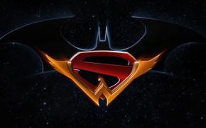 Picture batman, Batman, emblem, logo, superman, Superman, symbol, wonder woman, wonder woman