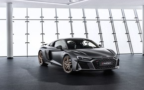 Picture machine, Audi, lights, coupe, sports car, Audi R8, V10, A decade