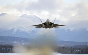 Wallpaper F-22, Raptor, UNITED STATES AIR FORCE, Lockheed/Boeing, multi-purpose fighter of the fifth generation