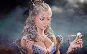 Picture Girl, Dragon, Snake, Pearl, Blonde, Face, Girl, Dragon, Art, Art, Snake, Fiction, Fiction, Blonde, Pearl, …