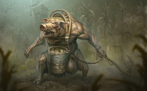 Picture weapons, pig, barrel, boar