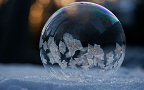 Picture pattern, frost, bubble