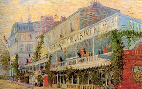 Picture Paris, Vincent van Gogh, balconies, Restaurant de la Sirene at Asnieres