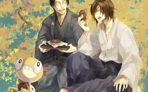 Picture smile, donuts, guys, Sengoku Basara, The Era Of Unrest