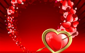 Picture love, heart, graphics, arrow, Valentine's Day