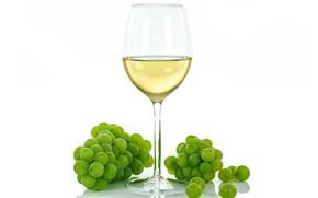 Picture wine, glass, grapes, white background