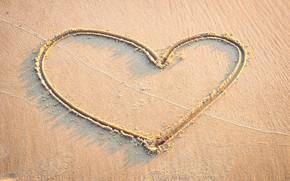 Picture sand, sea, wave, beach, summer, love, heart, summer, love, beach, sea, heart, romantic, sand