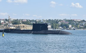 Picture submarine, mooring, Krasnodar