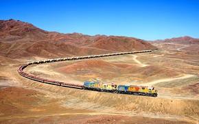 Picture train, valley, locomotive