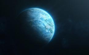Picture Stars, Planet, Space, Space, Art, by Evan Dalen, Evan Dalen, Blue Planet
