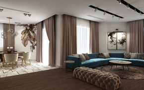 Picture design, style, interior, living room, dining room