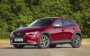 Picture photo, Mazda, Car, Burgundy, Crossover, CX-3, 2019, Sport Nav