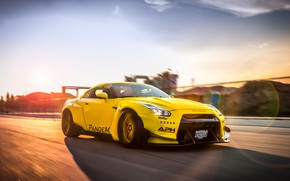 Picture tuning, speed, Nissan, GT-R, tuning, Liberty Walk, Pandem