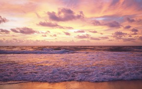 Picture sand, sea, wave, beach, summer, sunset, summer, beach, sea, sunset, pink, seascape, beautiful, sand, wave, …