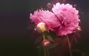 Picture flowers, art, art, peony, Alexander Khitrov, GaudiBuendia