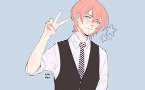 Picture background, sign, hand, guy, Singing Prince, Uta no Prince-sama