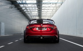 Picture wing, Alfa Romeo, rear view, Giulia, GTAm, 2020, Gran Turismo Alleggerita changed