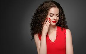 Picture girl, model, makeup, hairstyle, curls, model, Ryabusjkina Irina