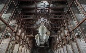 Picture space, rocket, hangar
