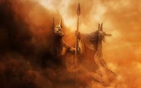 Picture Sand, Dust, Egypt, Fantasy, Art, Fiction, The gods, Anubis, Hosne Qanadelo, by Hosne Qanadelo, The …