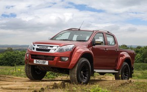 Picture pickup, logs, Isuzu, 2016, Arctic Trucks, D-Max, UK version, AT35