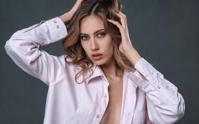 Picture portrait, shirt, retouching, Nastya, Anisimova Natalia