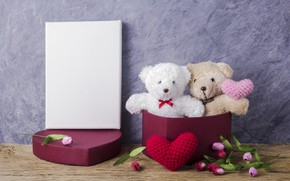 Picture love, flowers, gift, toy, heart, bear, tulips, love, pink, bear, heart, wood, pink, flowers, romantic, …